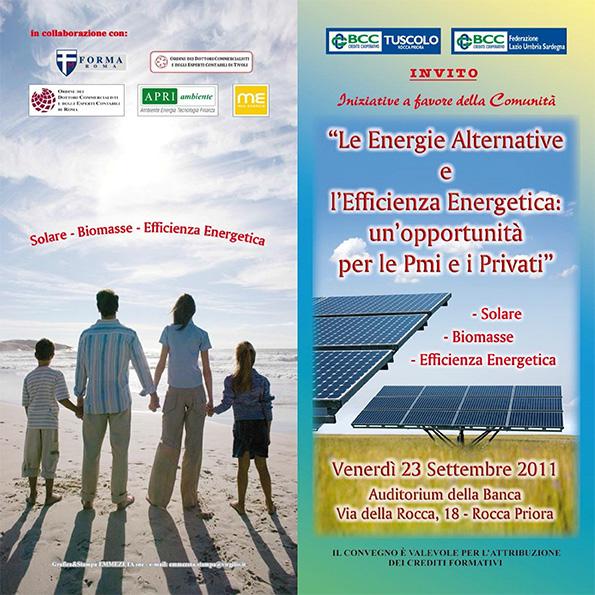 """Conferenza """"Le Energie Alternative e Efficienza Energetica"""""""